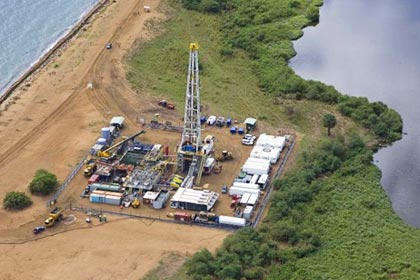 Oil rig in Republic of Uganda